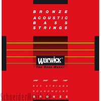 Warwick Red Bronze Acoustic Bass Strings 4 Medium Scale Strings