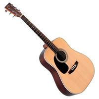 Sigma DR-28L Left Handed Dreadnought Acoustic Guitar Natural