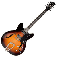 Hagstrom Viking Semi-Hollow Guitar Tobacco Sunburst