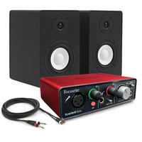 Focusrite Scarlett Solo USB Interface with SubZero SZ-4A Monitors