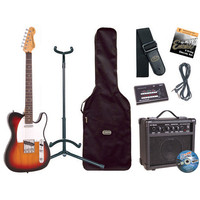 Encore E2 Electric Guitar Outfit Sunburst
