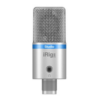 IK Multimedia iRig Mic Studio Large Diaphragm Digital Mic Silver
