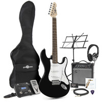 LA Electric Guitar + Multi FX Pack Black