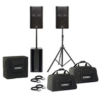 QSC 3000W K-Series PA Pack K10 & KSub + Stands Bags and Cables