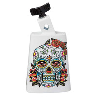 Latin Percussion Cowbell Collect-A-Bells Black Beauty Sugar Skull