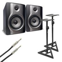 M-Audio BX5 Carbon Active Studio Monitors with Stands