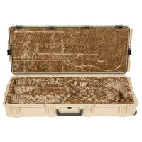 SKB Waterproof Classical Acoustic Guitar Case Tan with Wheels