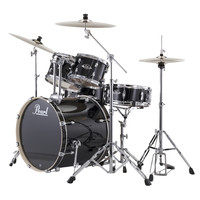 Pearl EXX705 Export 20 Fusion Drum Kit Jet Black w/ Sabian Cymbals