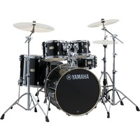Yamaha Stage Custom Birch 22 5 Piece Drum Kit Raven Black