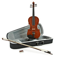 Deluxe 1/4 Size Violin by Gear4music
