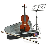 Deluxe 1/2 Size Violin + Accessory Pack by Gear4music