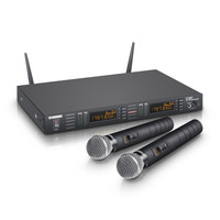 LD Systems WS 1 G8 HHD2 Wireless Mic System 2 x Handheld Microphones