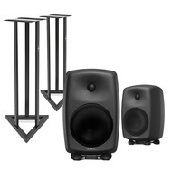 Genelec 8050B Bi-Amped Studio Monitors with Stands (Pair)