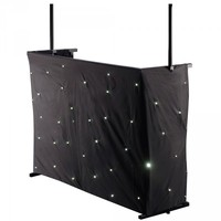 LEDJ DJ Skirt LED Starcloth System Black Cloth CW