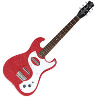 Danelectro 63 Double Cutaway Electric Guitar Red Metal Flake