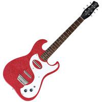 Danelectro 63 Double Cutaway Electric Guitar Red Metal Flake
