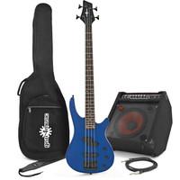 Lexington Bass Guitar by Gear4music + BP80 Pack Blue