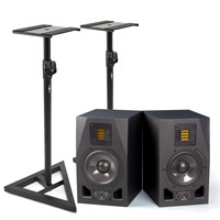 Adam A5X Active Studio Monitors with Stands Pair