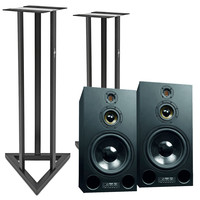 Adam S4X-V Active Midfield Studio Monitors with Stands (Pair)