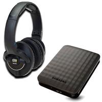 KRK KNS 8400 Headphones and Storage Bundle 1TB