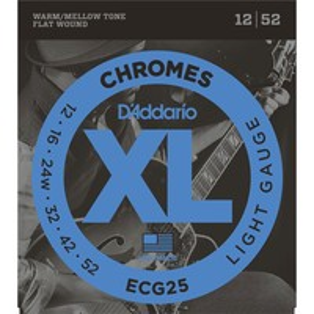 DAddario ECG25 12-52 Chromes Flat Wound Electric Guitar Strings
