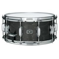 Tama Ltd Ed AM765 14 x 6.5 Maple Snare Drum Satin Charcoal Black