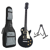 Epiphone Les Paul 100 Electric Guitar Ebony with Free Stand and Bag