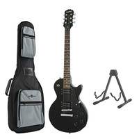 Epiphone Les Paul Studio Electric Guitar Ebony with Free Stand & Bag