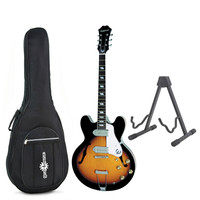Epiphone Casino Archtop Vintage Sunburst with Free Stand & Bag