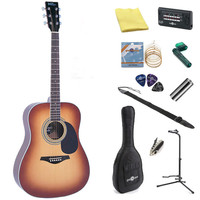 Vintage V300 Acoustic Guitar Vintage Sunburst + Perfect Ten Pack