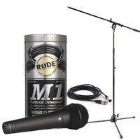 Rode M1 Microphone With Boom Mic Stand and 6m Cable