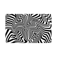 PikCard Picks (4) Black and White Swirl