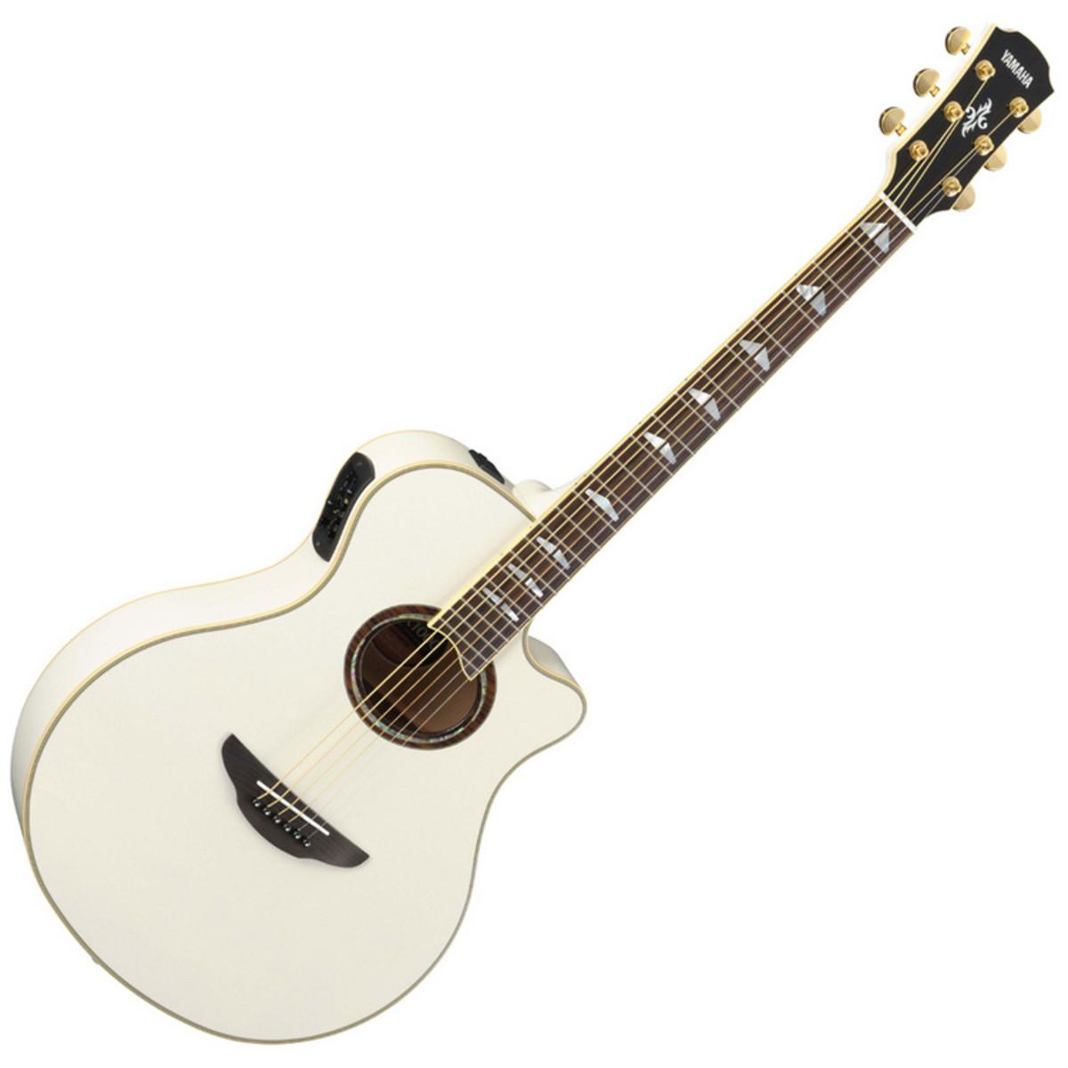 Yamaha APX1000 Guitare Electro Acoustique , Blanc à ...