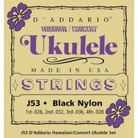 DAddario J53 Hawaii Concert Ukulele Strings Black