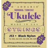 DAddario J53 Hawaii Concert Ukulele Strings Black