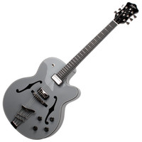 Hofner Gold Label New President Archtop Electric Guitar Grey