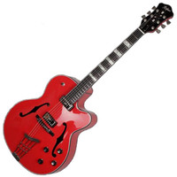 Hofner Gold Label New President Archtop Electric Guitar Bright Red