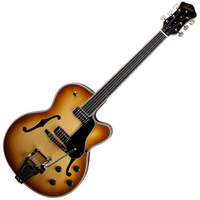 Hofner Gold Label New President Archtop Electric Guitar Sunburst