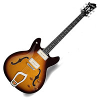 Hagstrom Viking P Semi Hollow Body Guitar Tobacco Sunburst