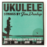 Jim Dunlop Ukulele Strings Silver Copper Wound Baritone