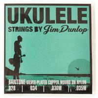Jim Dunlop Ukulele Strings Silver Copper Wound Baritone