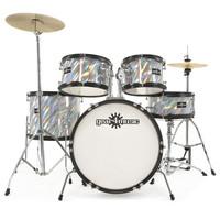 Junior 5 Piece Drum Kit by Gear4music Laser Silver
