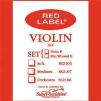 Red Label Violin String Set Med 3/4