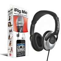 IK Multimedia iRig Mic for iPhone & Headphone Bundle