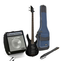 Lexington Bass Guitar by Gear4music + Hartke David Ellefson Amp