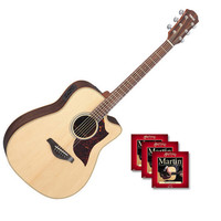Yamaha A1R Electro Acoustic Guitar Natural with FREE Strings