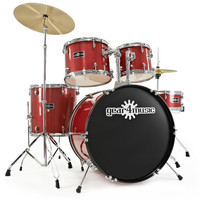 GD-2 Fusion Drum Kit by Gear4music Red Sparkle