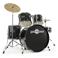 GD-2 Fusion Drum Kit by Gear4music Black