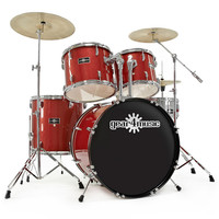 GD-7 Drum Kit by Gear4music Red Sparkle