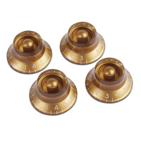 Gibson Top Hat Knobs for Electric Guitar 4 Pack Gold